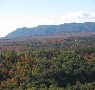 View of Pleasant Mountain, Maine